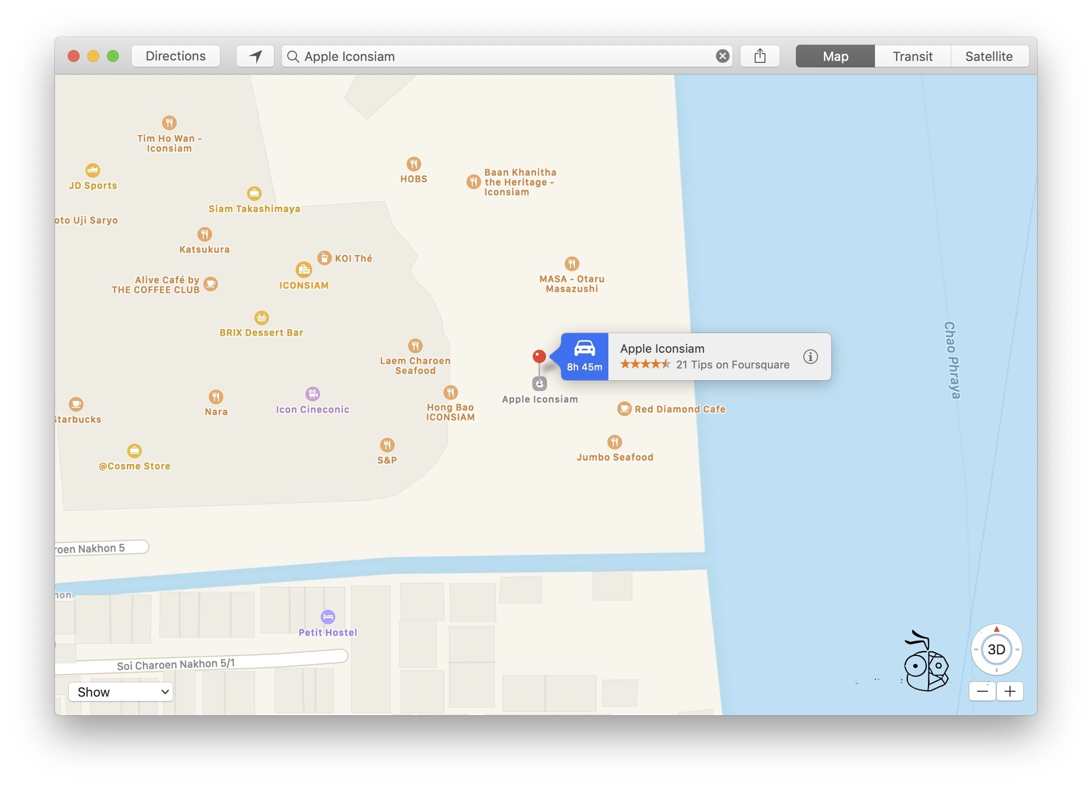 Apple Iconsiam On Apple Maps Macos