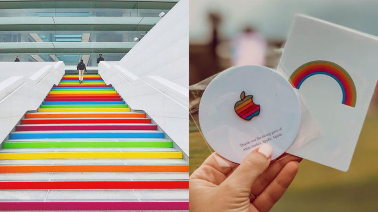 Apple Park Turns Rainbow Celebration