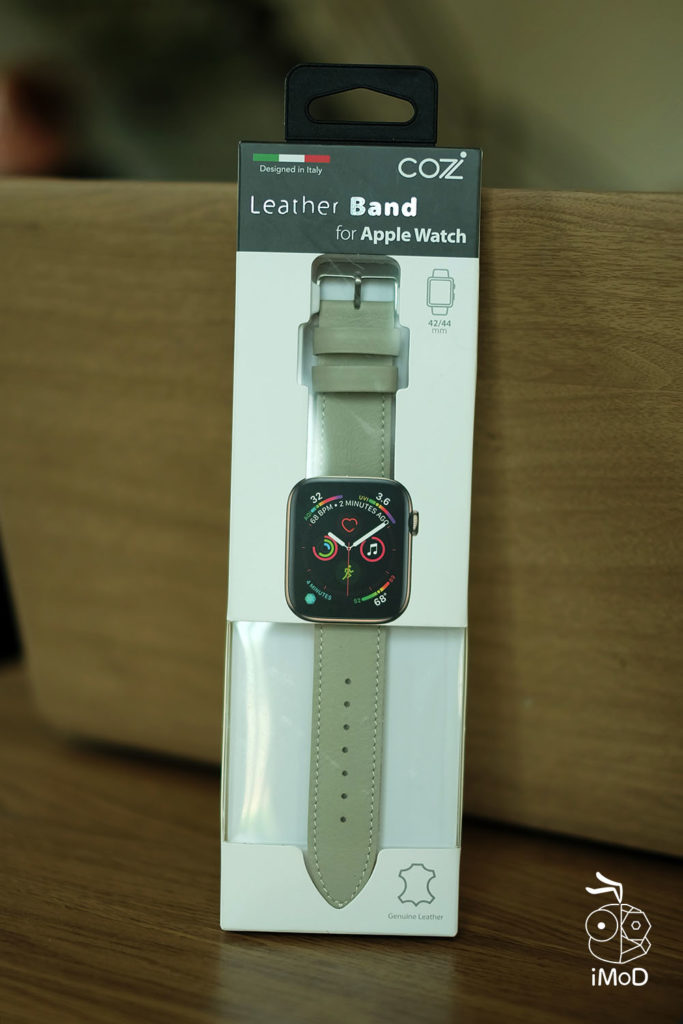 Cozistyle Striped Leather Apple Watch Band Lilly White Color Review 1