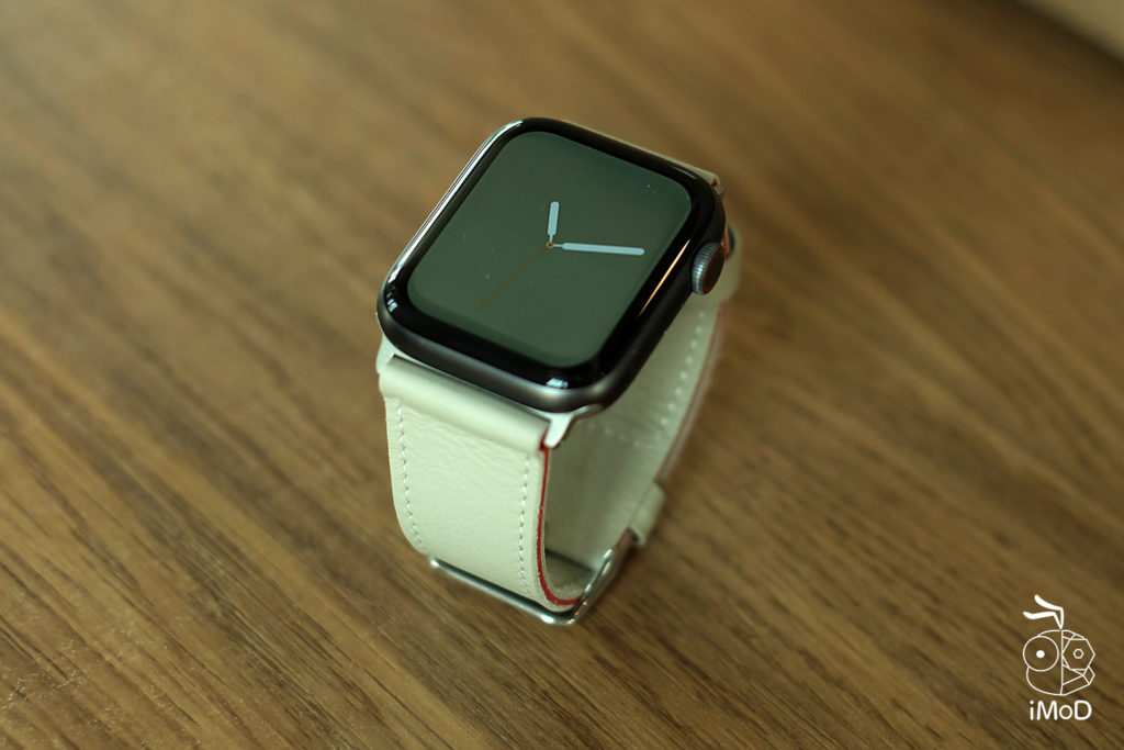 Cozistyle Striped Leather Apple Watch Band Lilly White Color Review 11