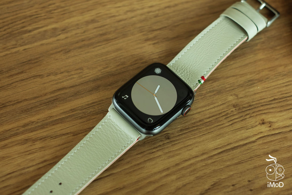 Cozistyle Striped Leather Apple Watch Band Lilly White Color Review 16
