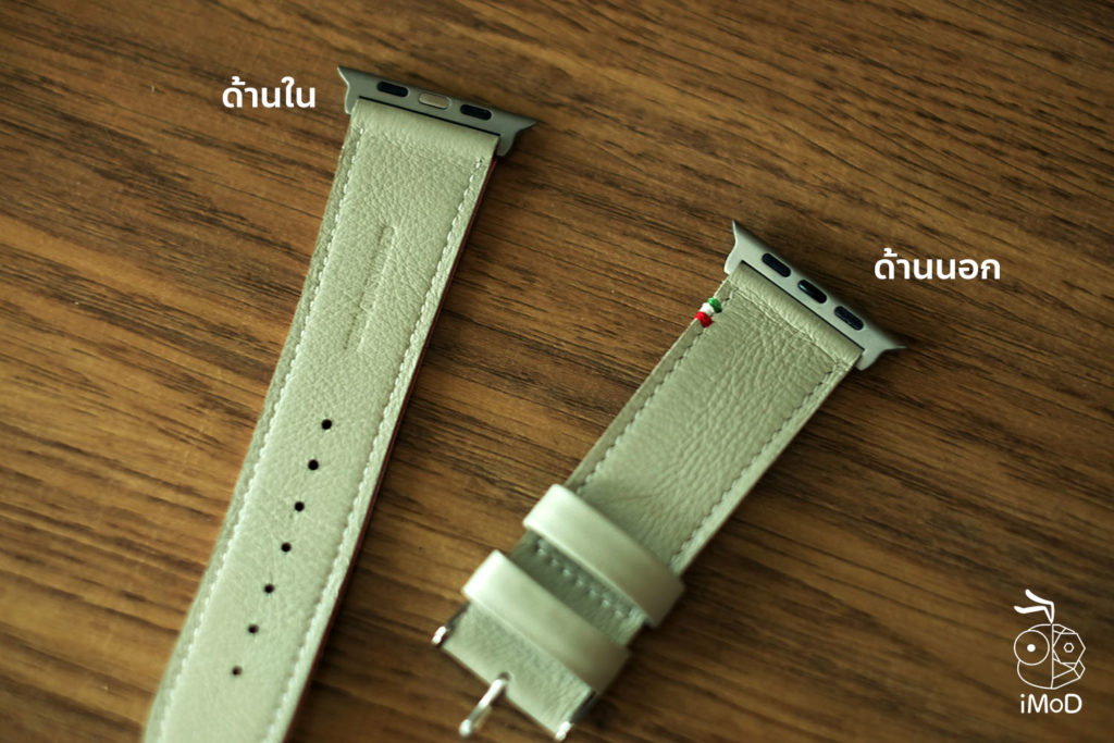 Cozistyle Striped Leather Apple Watch Band Lilly White Color Review 22