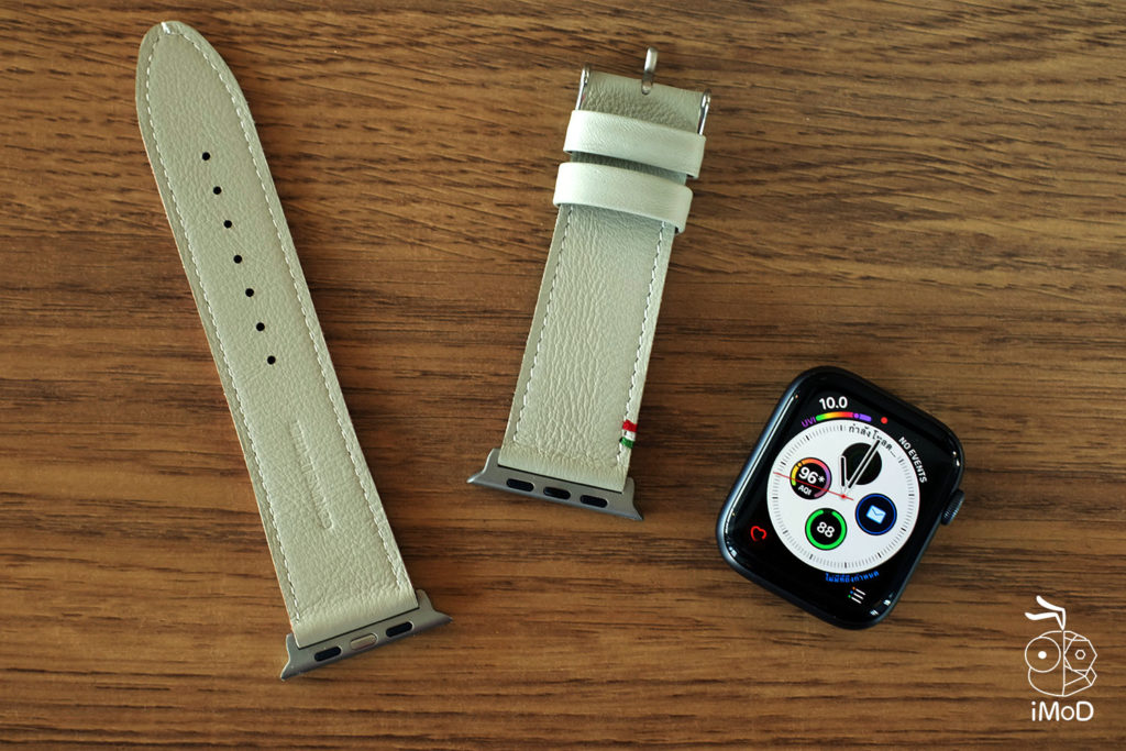Cozistyle Striped Leather Apple Watch Band Lilly White Color Review 3