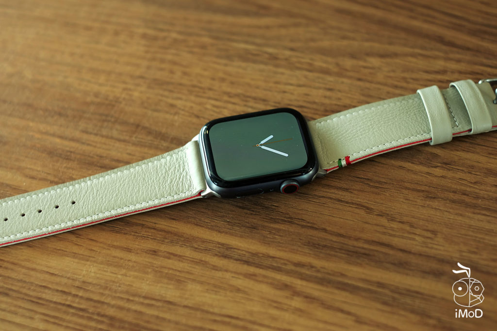 Cozistyle Striped Leather Apple Watch Band Lilly White Color Review 7