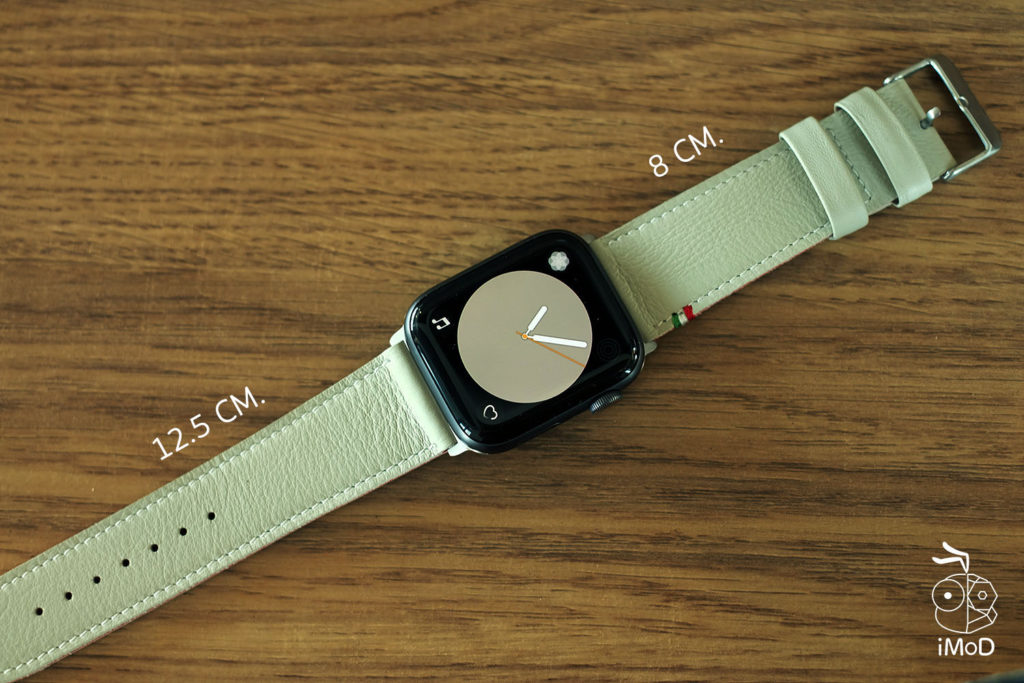Cozistyle Striped Leather Apple Watch Band Lilly White Color Review 8