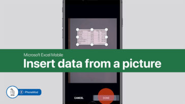 Excel Mobile Insert Data From Picture Cover