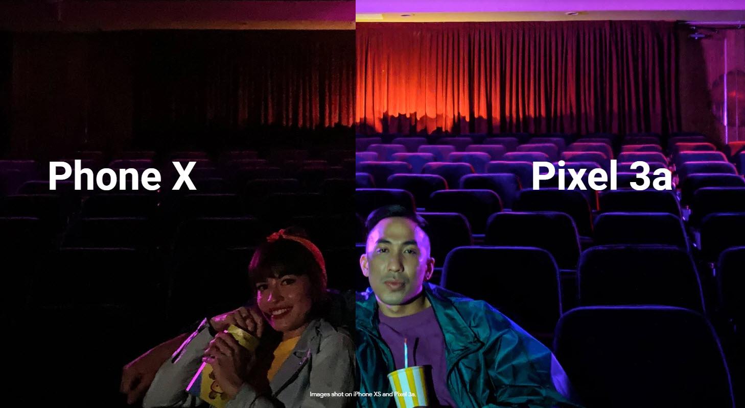 Google Pixel 3a Vs Phone X Ad