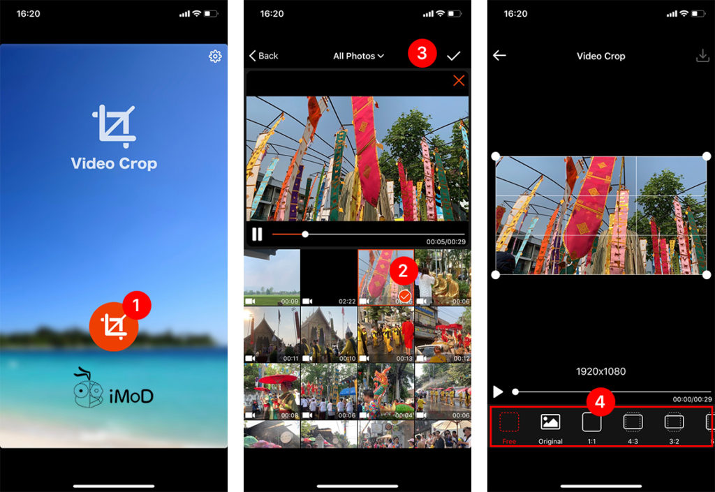 How To Crop Video By Video Crop App Iphone Ipad 1