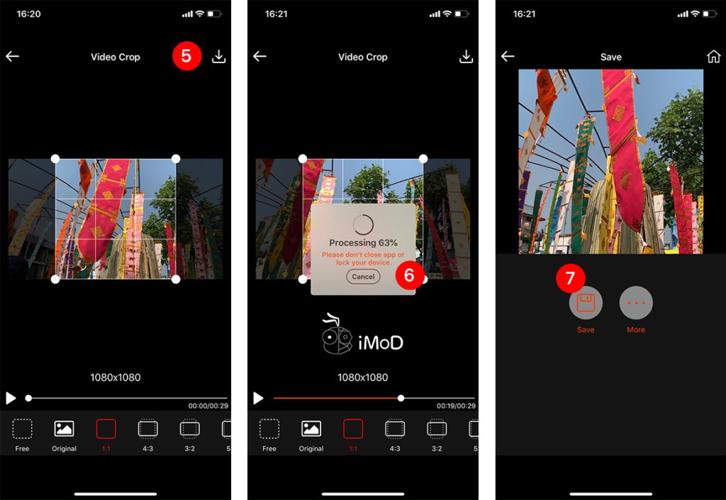 How To Crop Video By Video Crop App Iphone Ipad 3