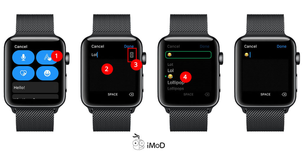 How To Send Emoji Message By Scribble Apple Watch 2