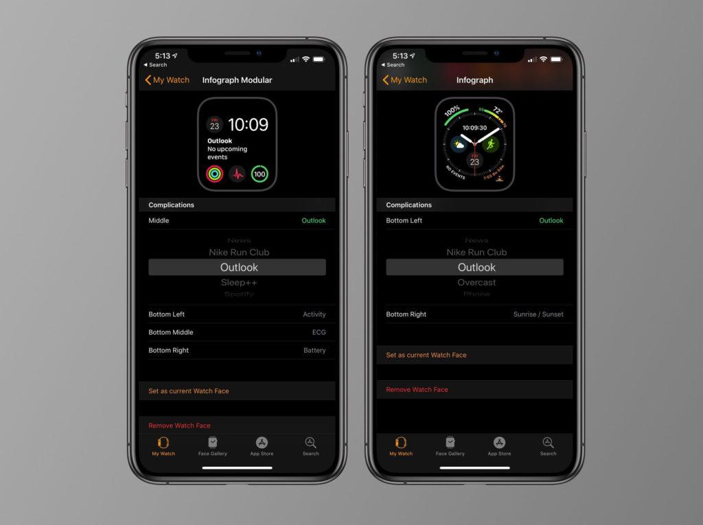 Microsoft Outlook Update New Complicaton Apple Watch Series 4 2