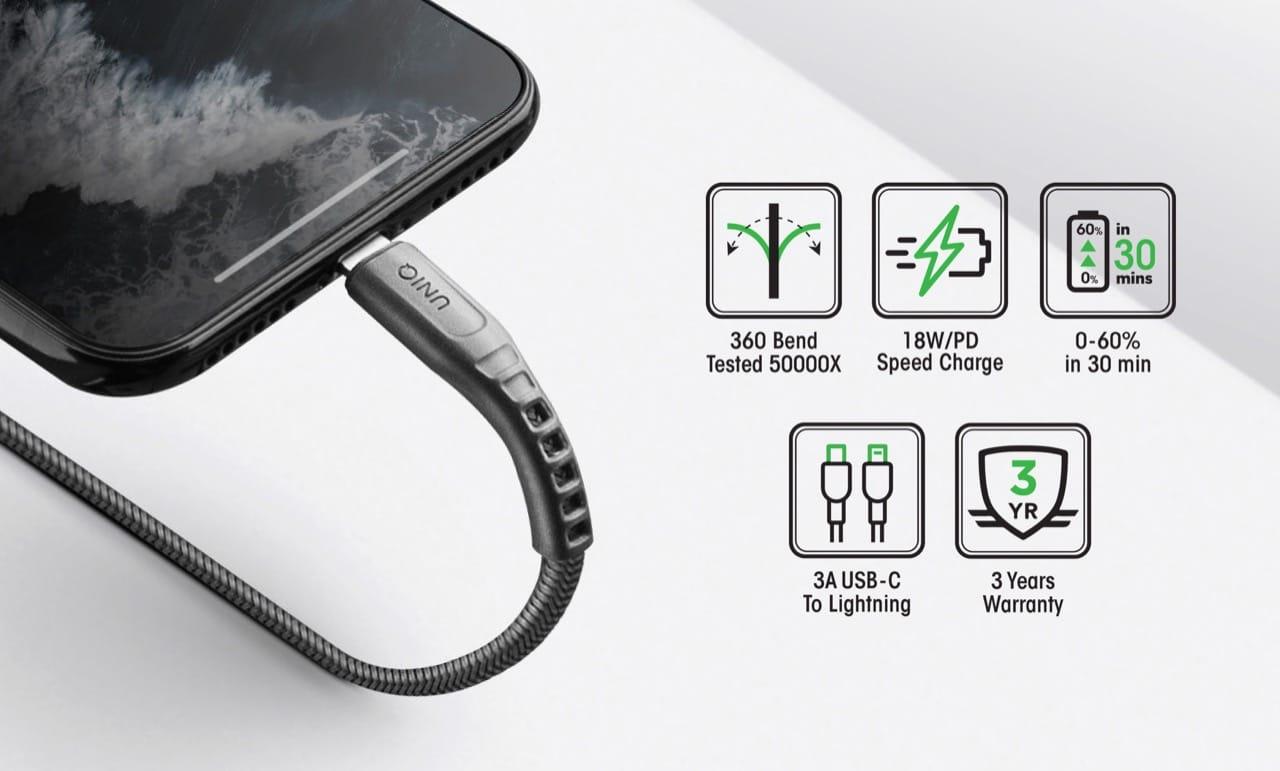 Uniq Flex And Halo Lightning Cable 2