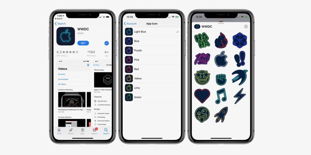 Wwdc App For Ios Update With Neon Icon And Stickers 1