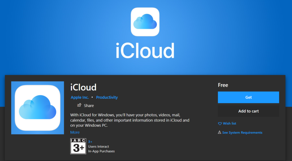 Apple Released Icloud For Microsoft Store Img 2
