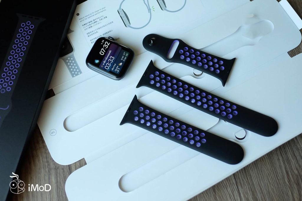Apple Watch Nike Sport Band Black Hyper Grape Color 3