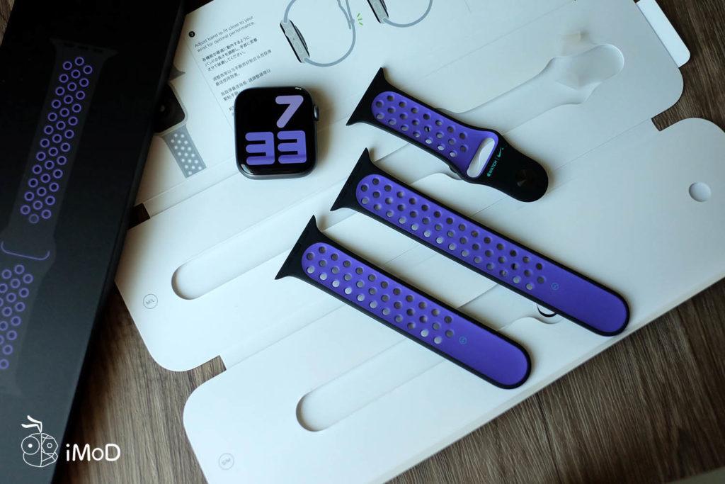 Apple Watch Nike Sport Band Black Hyper Grape Color 4