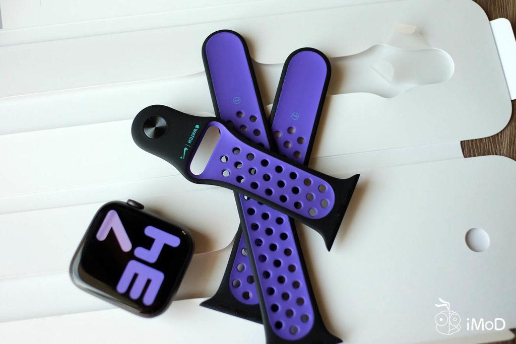 Apple Watch Nike Sport Band Black Hyper Grape Color 5