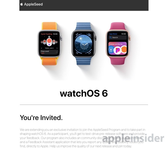 Appleseed Invitation Watchos 6 Beta Testing Img 1