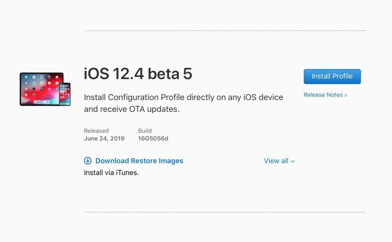 Ios 12 4 Developer Beta 5 Seed Img 1