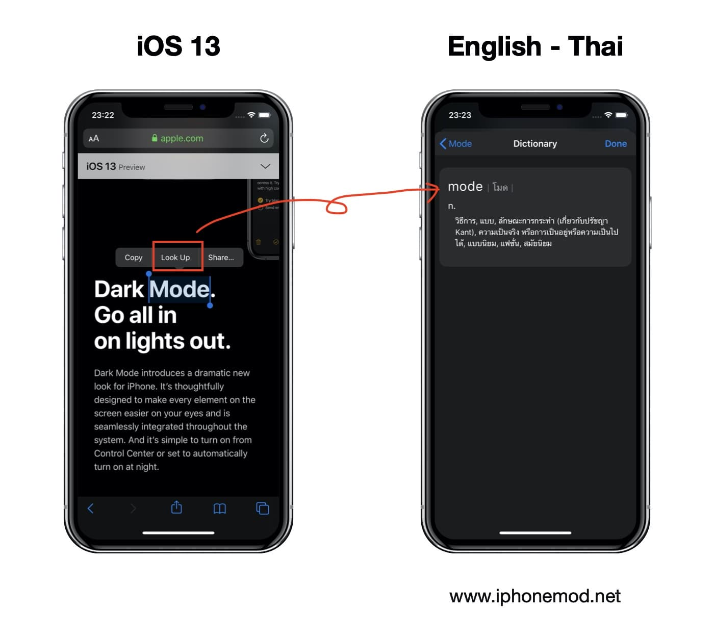 Ios 13 English To Thai To English Dictionary