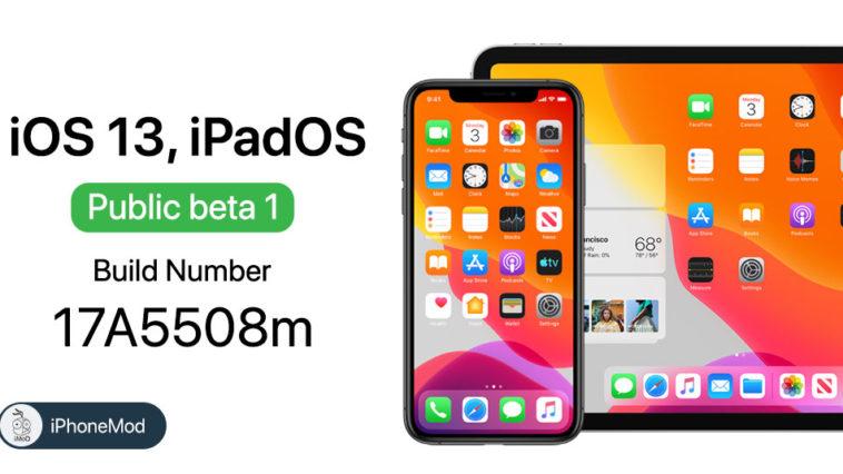 Ios 13 Ipados Public Beta Same Build Number Developer Beta 2