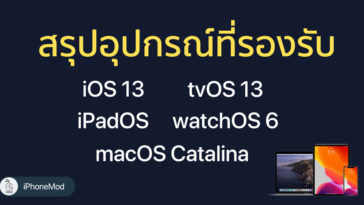Ios 13 Ipados Tvos 13 Watchos 6 Macos Catalina Device Support List