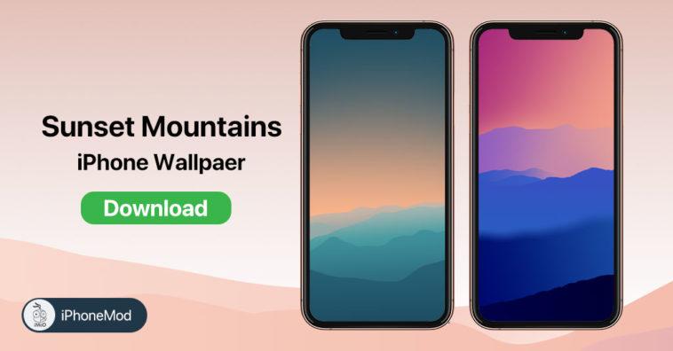 Iphone Wallpaper Sunset Mountains