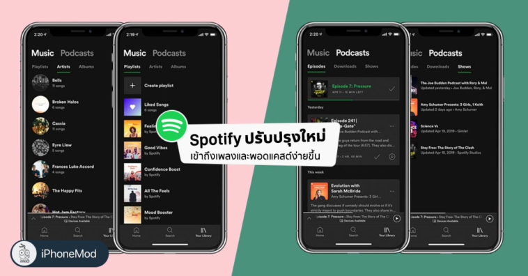 Spotify Redesign New My Library