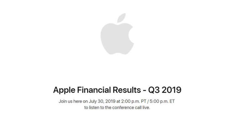 Apple Earnings Release Q3 2019 Date