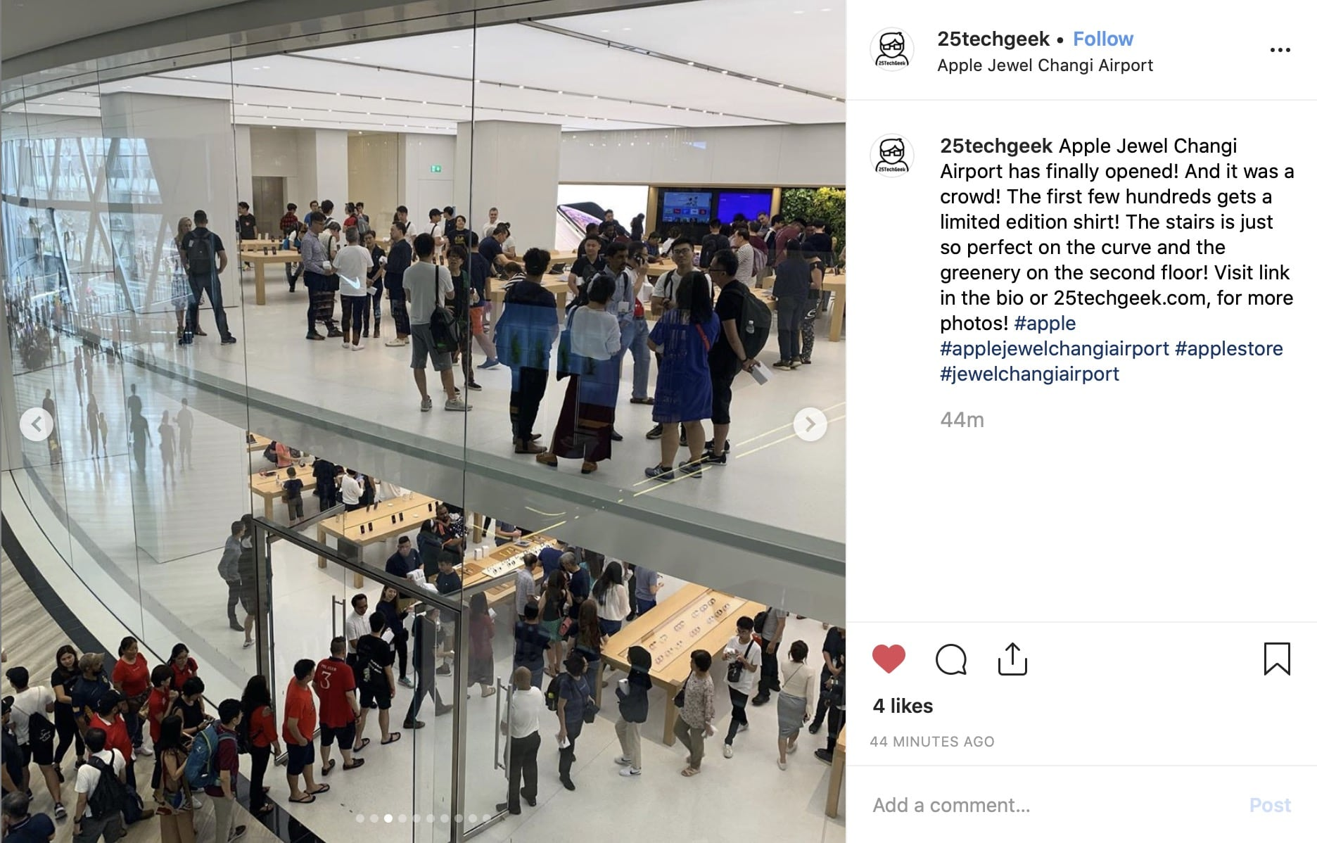 Apple Jewel Changi Airport 1