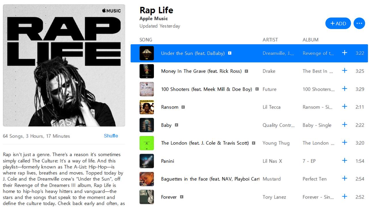 Apple Music A List Hip Hop Playlist Is Now Rap Life Img 1