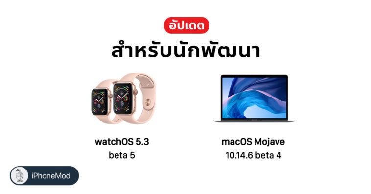 Apple Release Update Watchos 5 3 Beta 5 And Macos 10 14 6 Beta 4 Developer