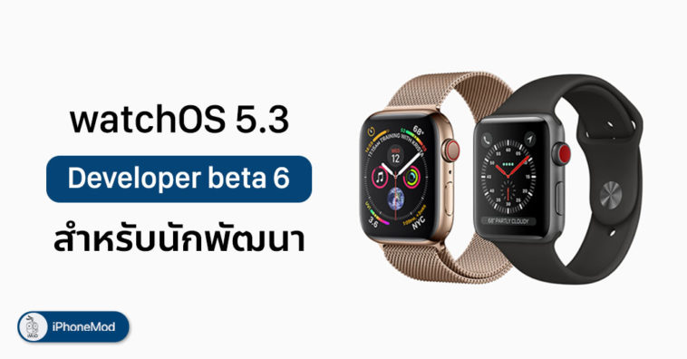 Apple Release Update Watchos 5 3 Beta 6 Developer