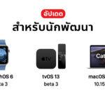 Apple Release Watchos 6 Tvos 13 Macos Catalina 10 15 Developer Beta 3