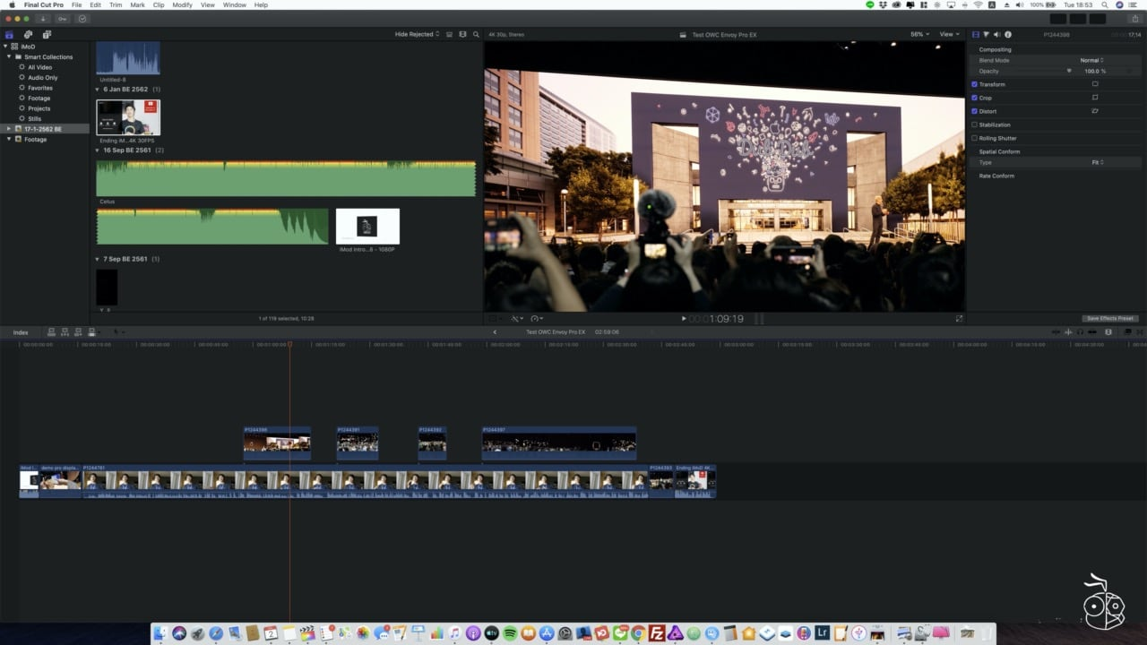 Edit Video From Owc Envoy Pro Ex With Final Cut