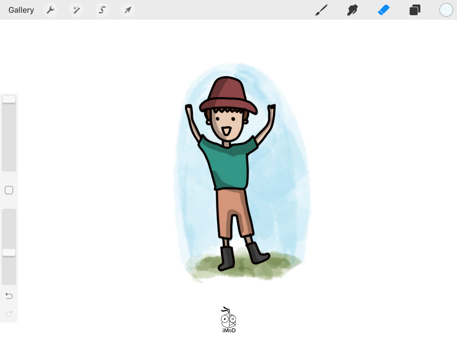 How To Change Color Tab Procreate 04