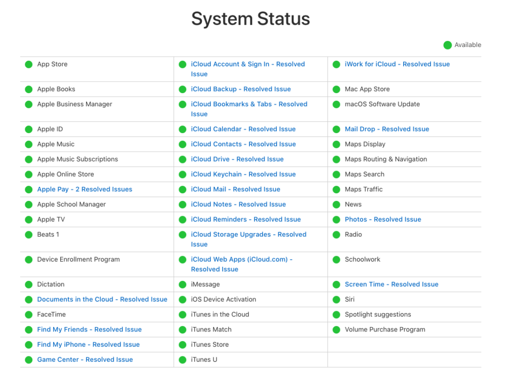 Icloud And Some Apple System Service Down 2