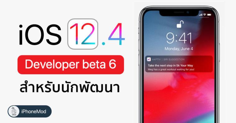 Ios 12 4 Developer Beta 6 Seed