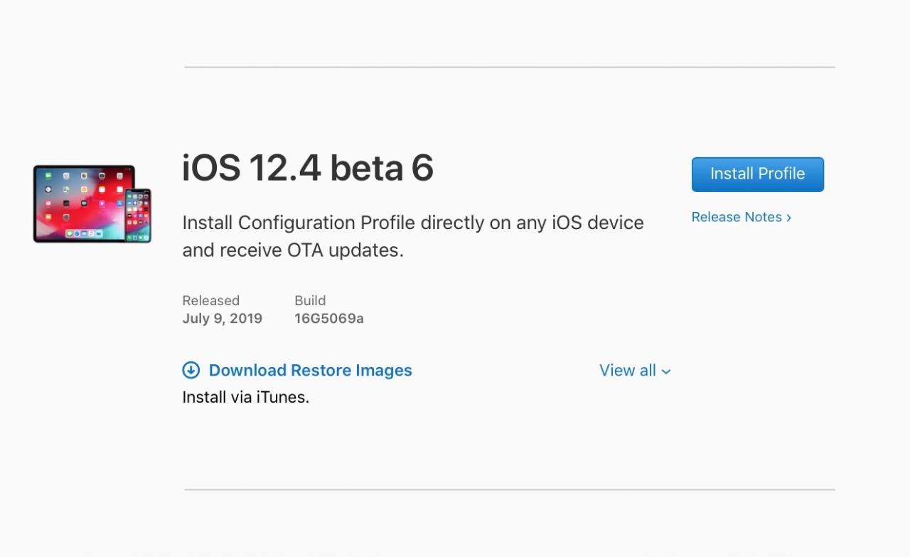 Ios 12 4 Developer Beta 6 Seed Img 1