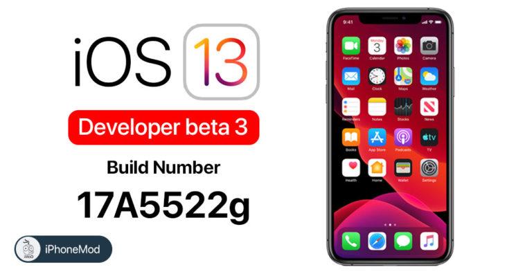 Ios 13 Developer Beta 3 New Build Number
