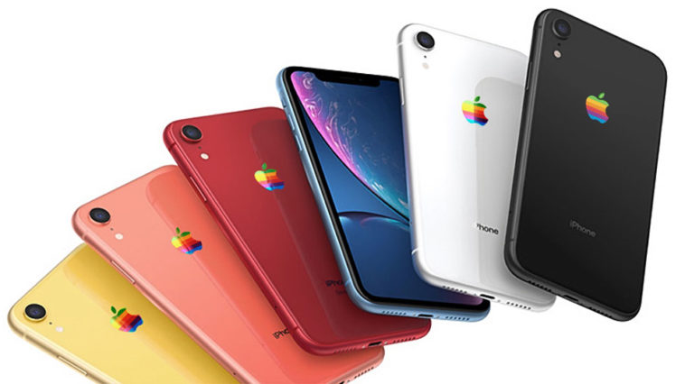 Iphone Xr Logo Rainbow