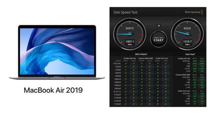 Macbook Air 2019 Ssd Slower 35 Percent 2018 Model