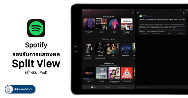 Spotify Support Split View In Ipad