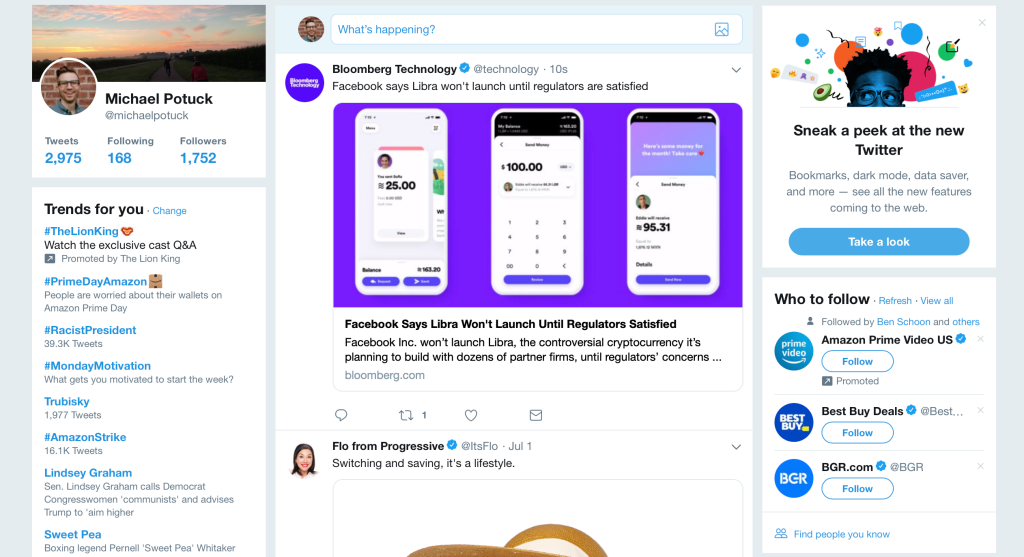 Twitter For Desktop Redesign Dark Mode 1