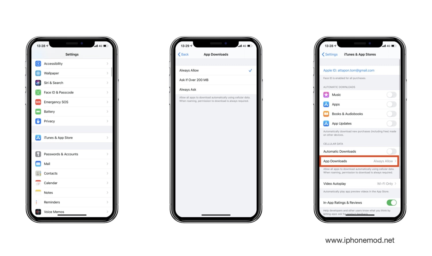 Allowed Ios 13 Download Full Size App Over Cellular