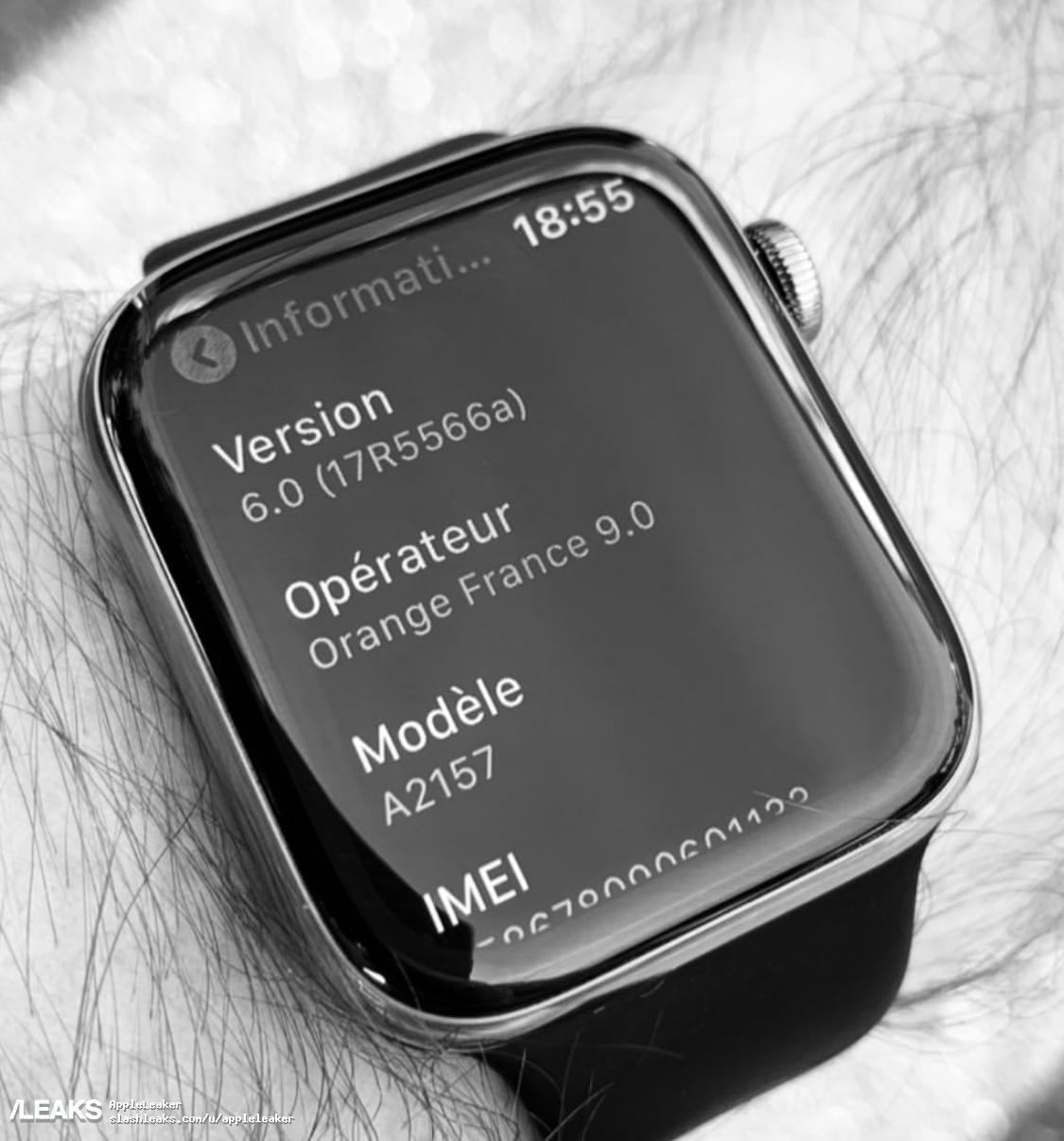 Apple Watch 5 A2157 Leak