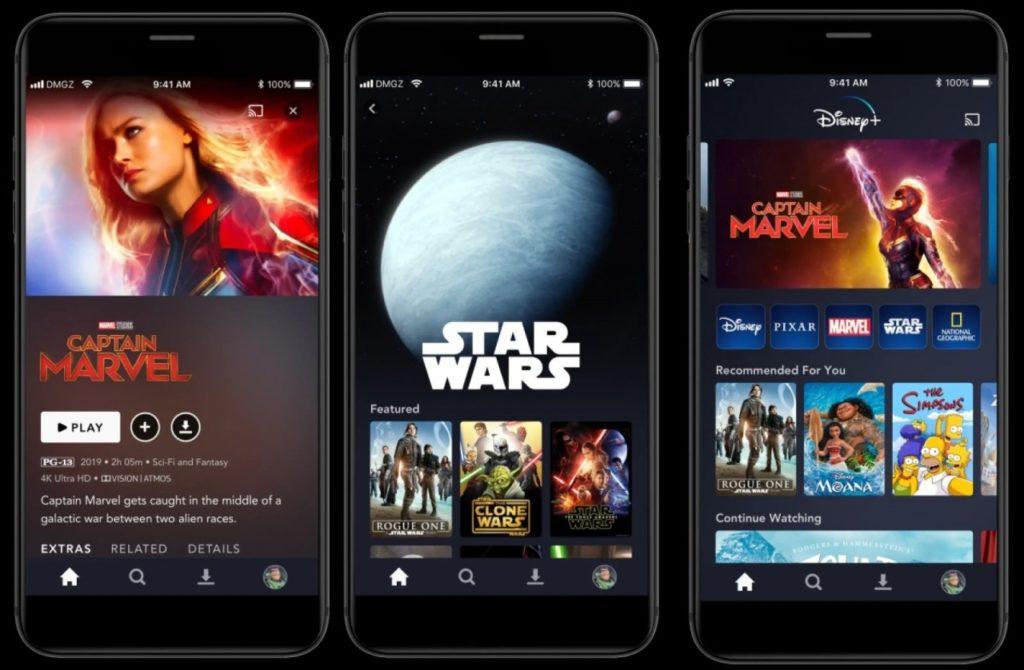 Disney Plus Ui On Iphone Apple Tv 3