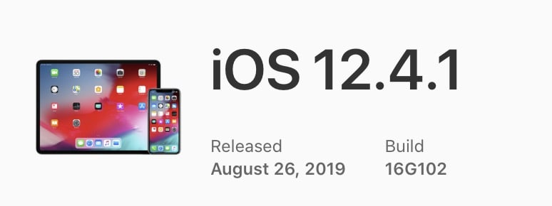 Ios 12.4.1 Build Number