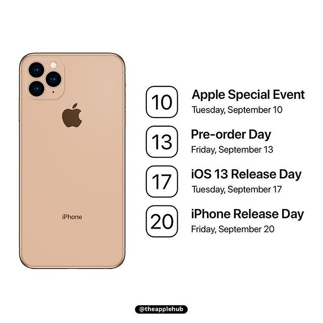 Iphone 11 Ios 13 Release Date Expectation Img 1