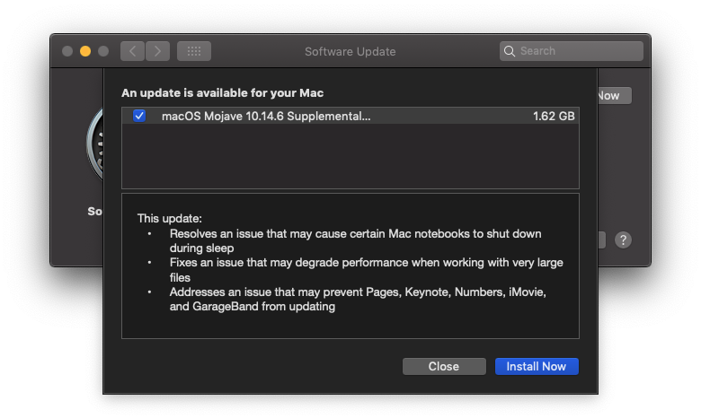 Macos 10 14 6 Supplemental Update For Mac Late Aug 2019 Img 1